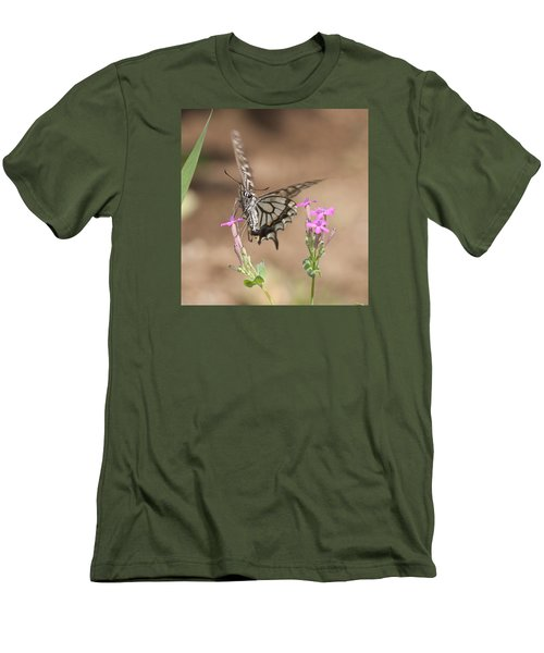 Butterfly And Flower Men's T-Shirt (Athletic Fit)
