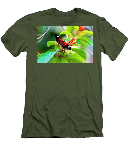 Men's T-Shirt (Slim Fit) featuring the photograph Butterfly  by David Morefield