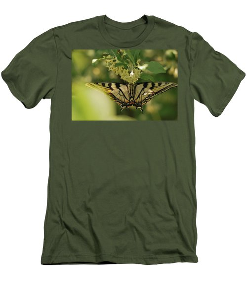 Men's T-Shirt (Slim Fit) featuring the photograph Butterfly From Another Side by Susan Capuano