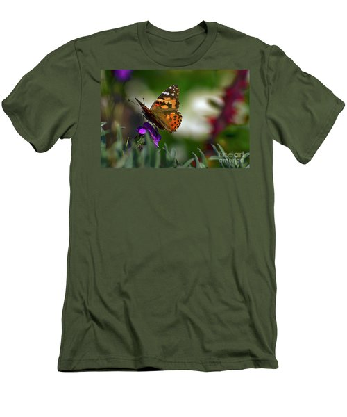Men's T-Shirt (Slim Fit) featuring the photograph Butterfly In Winter by Debby Pueschel
