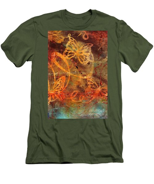 Butterfly Sun Dance Men's T-Shirt (Athletic Fit)