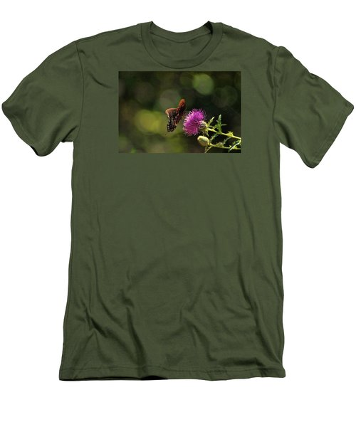 Butterfly Touch Men's T-Shirt (Slim Fit) by Rick Friedle