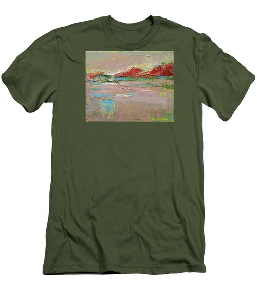 By The River Men's T-Shirt (Slim Fit) by Becky Kim