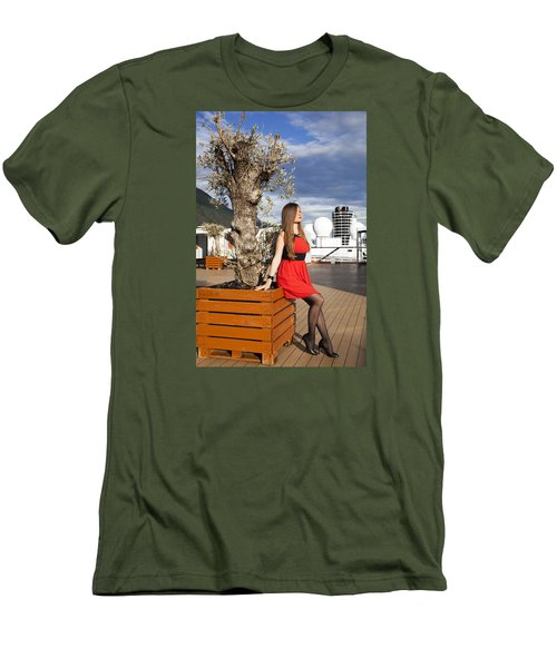 By The Tree Of Temptation Men's T-Shirt (Athletic Fit)