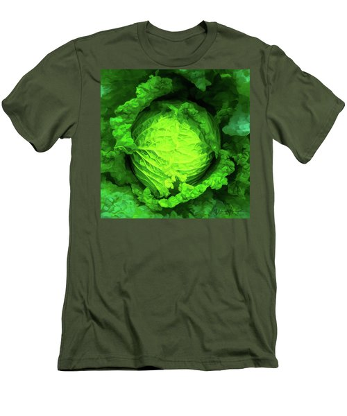 Cabbage 02 Men's T-Shirt (Slim Fit) by Wally Hampton