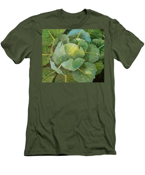Cabbage Men's T-Shirt (Slim Fit) by Jennifer Abbot