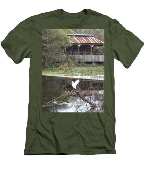 Cabin On The Bayou Men's T-Shirt (Slim Fit)