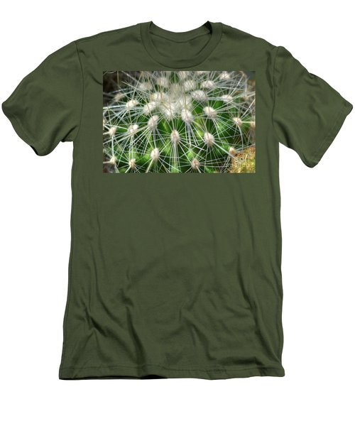 Men's T-Shirt (Slim Fit) featuring the photograph Cactus 1 by Jim and Emily Bush
