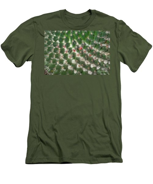 Men's T-Shirt (Slim Fit) featuring the photograph Cactus 5 by Jim and Emily Bush