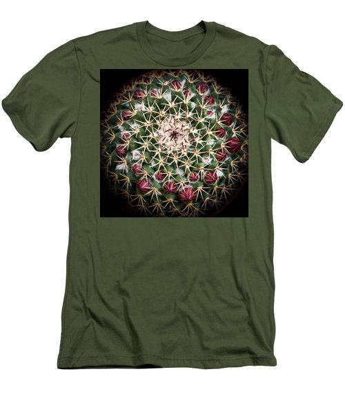 Men's T-Shirt (Slim Fit) featuring the photograph Cactus  Flower by Catherine Lau
