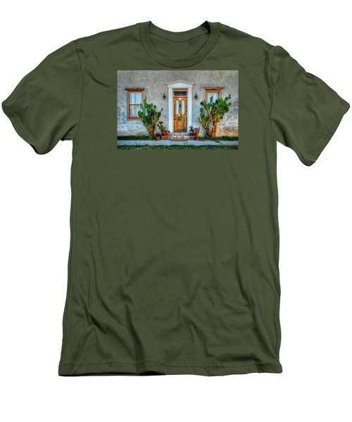 Men's T-Shirt (Slim Fit) featuring the photograph Cactus Guards by Ken Smith