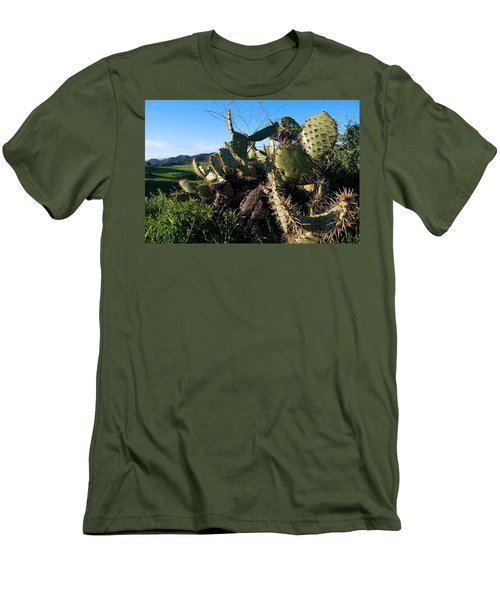 Men's T-Shirt (Athletic Fit) featuring the photograph Cactus In The Mountains by Matt Harang