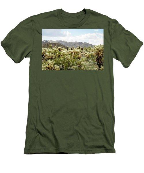 Cactus Paradise Men's T-Shirt (Slim Fit) by Amyn Nasser