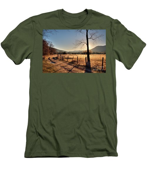 Men's T-Shirt (Slim Fit) featuring the photograph Cades Cove, Spring 2017,i by Douglas Stucky