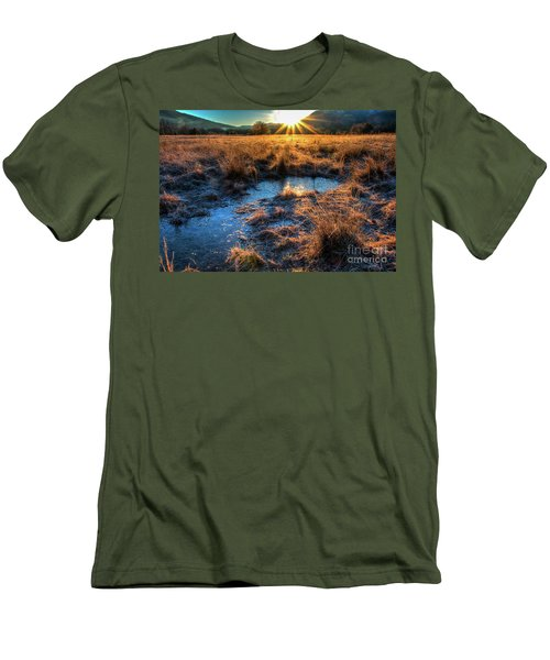Men's T-Shirt (Slim Fit) featuring the photograph Cades Cove, Spring 2017,ii by Douglas Stucky