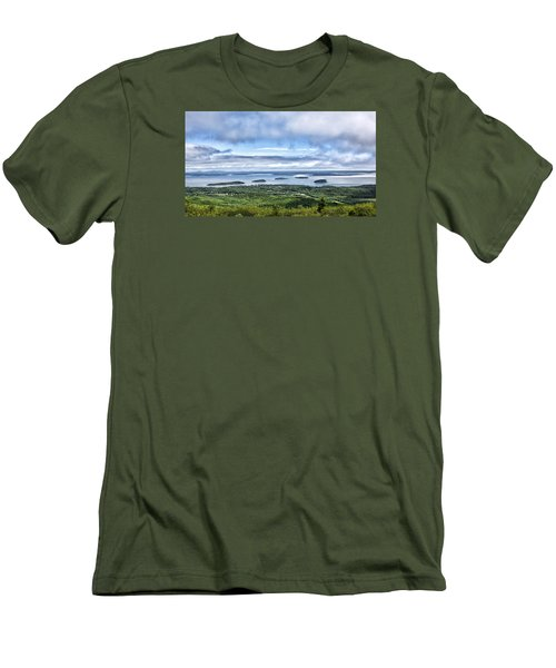 Cadillac Mountain View - Acadia National Park Men's T-Shirt (Athletic Fit)
