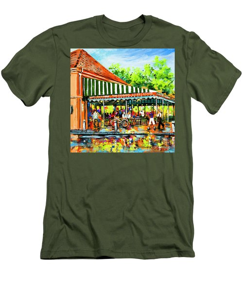 Cafe Du Monde Lights Men's T-Shirt (Athletic Fit)