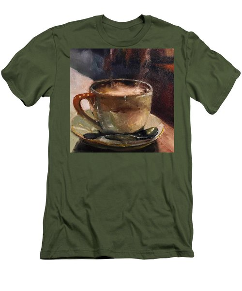 Cafe Love Coffee Painting Men's T-Shirt (Slim Fit) by Michele Carter