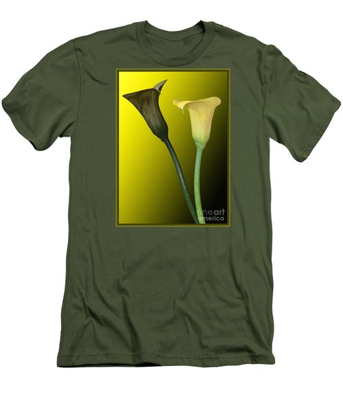 Cala Lilies Opposites Men's T-Shirt (Athletic Fit)