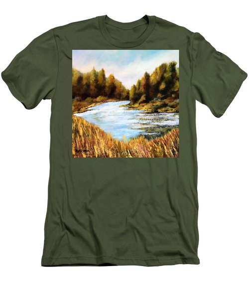 Calapooia River Men's T-Shirt (Slim Fit) by Marti Green