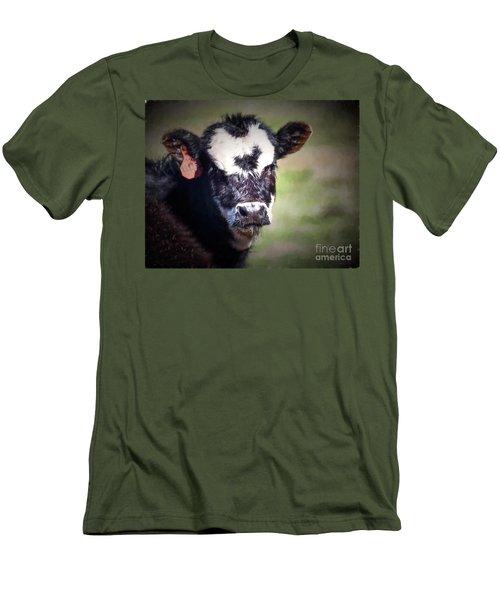 Calf Number 444 Men's T-Shirt (Athletic Fit)