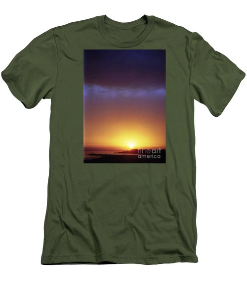 California Ocean Sunset Men's T-Shirt (Slim Fit) by Ted Pollard