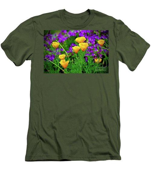 California Poppies Men's T-Shirt (Slim Fit) by Michael Cinnamond