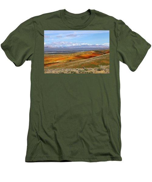 California Poppy Reserve Men's T-Shirt (Slim Fit) by Viktor Savchenko