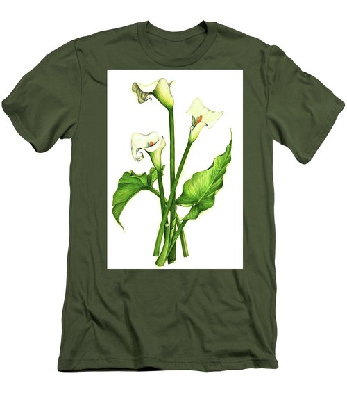 Calla Lilly Men's T-Shirt (Slim Fit) by Heidi Kriel
