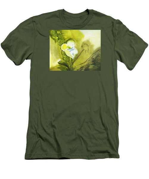 Calla Lily In Acrylic Men's T-Shirt (Slim Fit) by Frank Bright