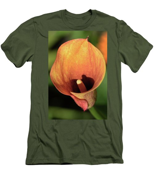 Men's T-Shirt (Slim Fit) featuring the photograph Calla Sunbathing. by Terence Davis