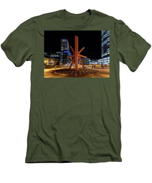 Men's T-Shirt (Slim Fit) featuring the photograph Calling After Sundown by Randy Scherkenbach