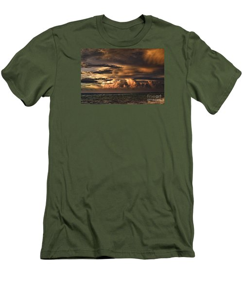 Men's T-Shirt (Slim Fit) featuring the photograph Calm Before The Storm by Judy Wolinsky