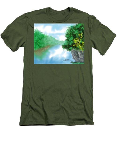 Calm River Men's T-Shirt (Athletic Fit)