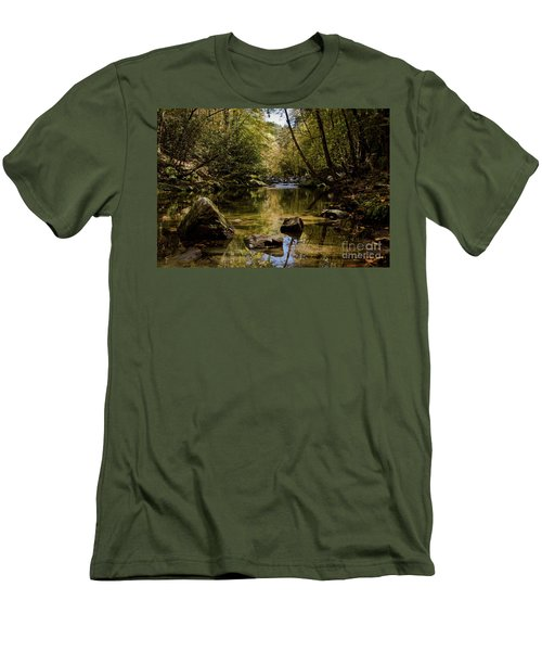 Men's T-Shirt (Slim Fit) featuring the photograph Calmer Water by Douglas Stucky