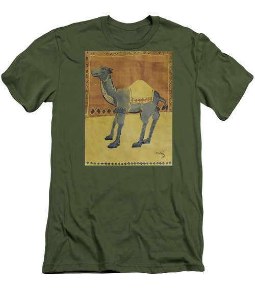 Camel With Diamonds Men's T-Shirt (Athletic Fit)