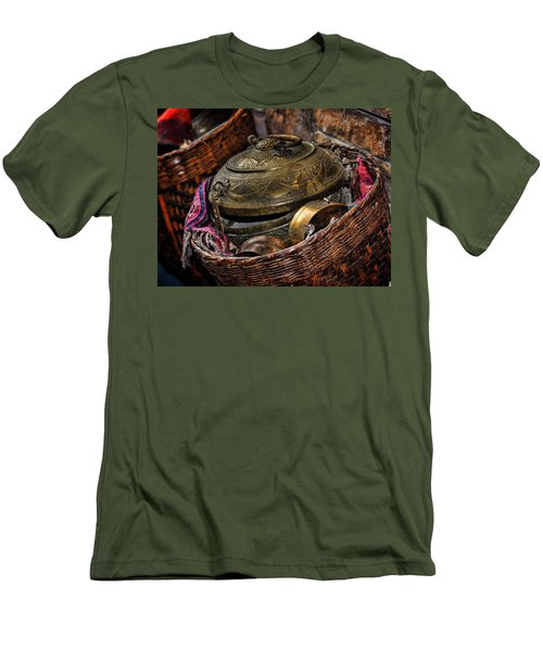 Men's T-Shirt (Slim Fit) featuring the photograph Camelback 8850 by Sylvia Thornton