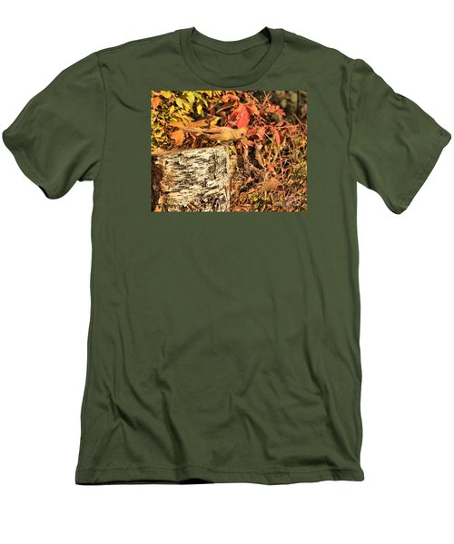 Men's T-Shirt (Slim Fit) featuring the photograph Camo Bird by Debbie Stahre