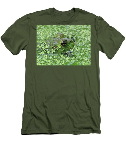 Camo Frog Men's T-Shirt (Slim Fit) by Ronda Ryan