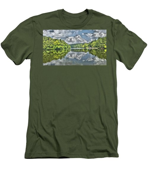 Camp Mountain Lake Men's T-Shirt (Athletic Fit)