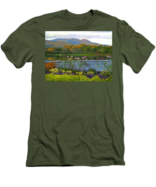 Campton Pond Campton New Hampshire Men's T-Shirt (Slim Fit) by Nancy Griswold
