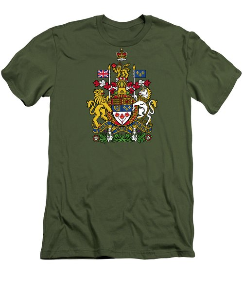 Canada Coat Of Arms Men's T-Shirt (Slim Fit) by Movie Poster Prints