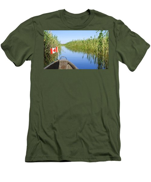 Men's T-Shirt (Slim Fit) featuring the photograph Canadians In Africa by Betty-Anne McDonald
