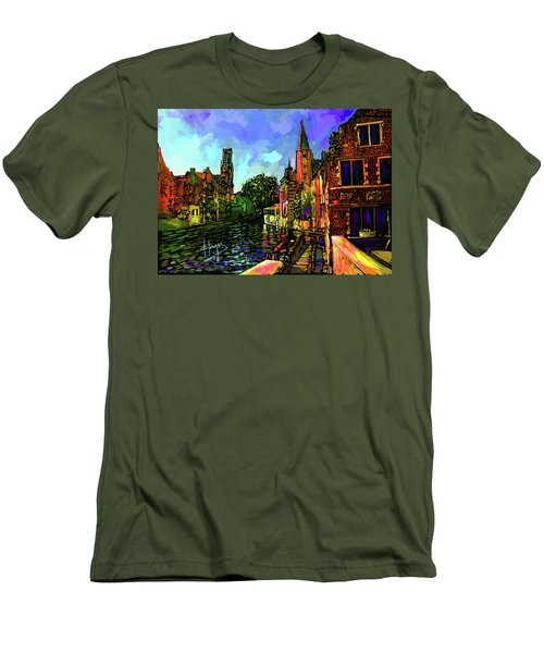 Canal In Bruges Men's T-Shirt (Athletic Fit)