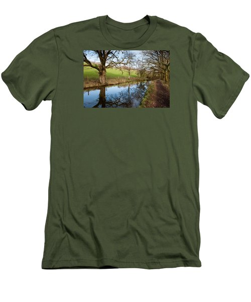 Canal Reflections Men's T-Shirt (Slim Fit) by Helen Northcott