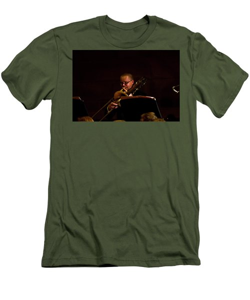 Men's T-Shirt (Athletic Fit) featuring the photograph Cancon Primi Toni - Trombone by Miroslava Jurcik
