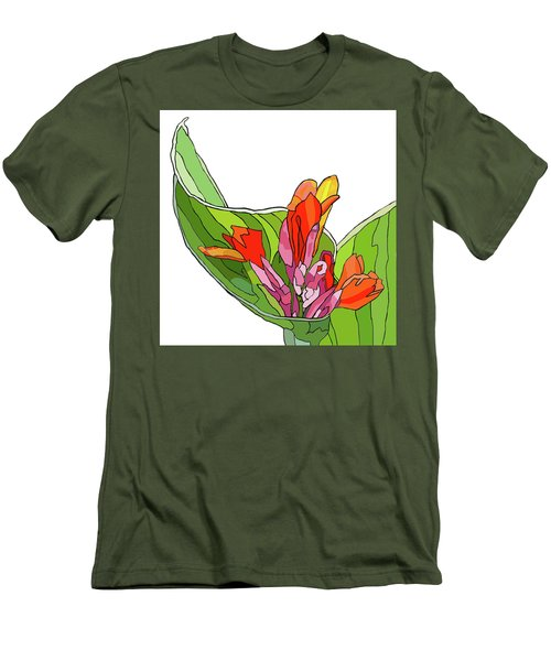 Canna Bud Men's T-Shirt (Slim Fit) by Jamie Downs