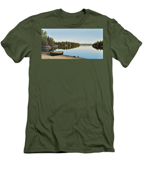 Canoe The Massassauga Men's T-Shirt (Slim Fit) by Kenneth M  Kirsch