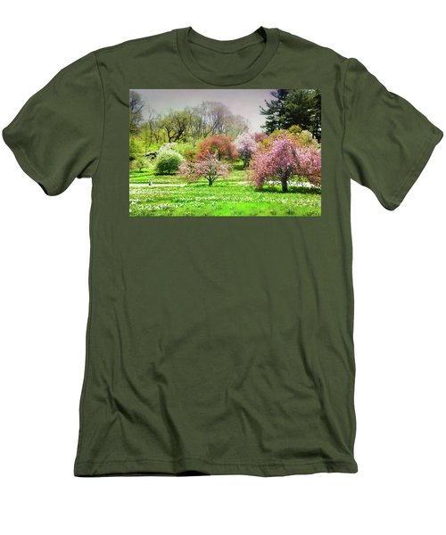Men's T-Shirt (Slim Fit) featuring the photograph Garden Canvas  by Diana Angstadt