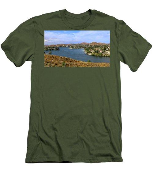Canyon Lake Panorama Men's T-Shirt (Athletic Fit)